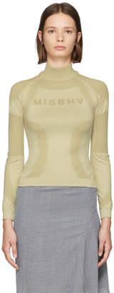 Misbhv Beige Logo Active Turtleneck Sweater