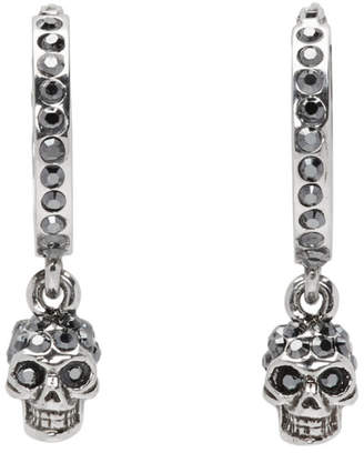 cb82861d2 ... Alexander McQueen Silver Mini Skull Hoop Earrings