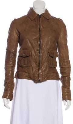 Improvd Leather Zip-Up Jacket