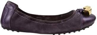 Louis Vuitton Purple Suede Flats