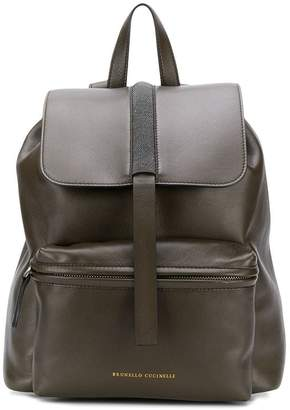 Brunello Cucinelli bead embroidered backpack
