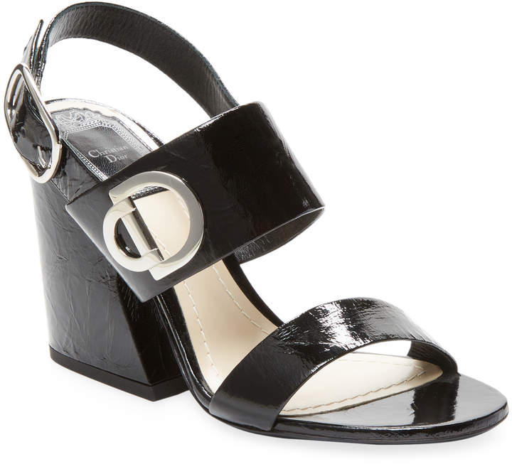 Dior Women's Leather Block Heel Sandal