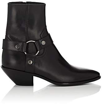 Saint Laurent Women's Western Leather Ankle Boots - Black