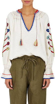 Ulla Johnson Women's Vania Embroidered Silk Blouse $425 thestylecure.com