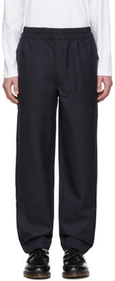 Comme des Garcons Navy Gabardine Trousers