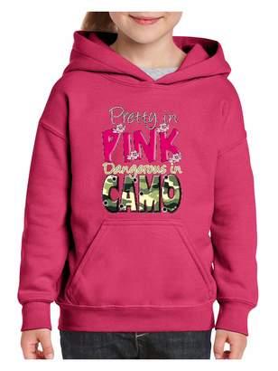 N.i.b Dangerous in Camo Pretty Unisex Hoodie for Girls and Boys Youth Sweatshirt (SHP)