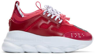 Versace Pink Chain Reaction Sneakers