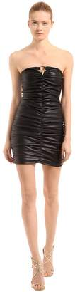 Roberto Cavalli Leather Mini Dress