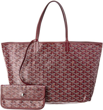 Goyard Burgundy Goyardine Canvas St. Louis Pm