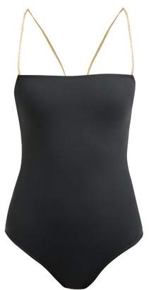 Eres Bagl Loadstone Halterneck Swimsuit - Womens - Grey