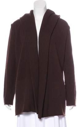 Vince Wool-Blend Hooded Cardigan