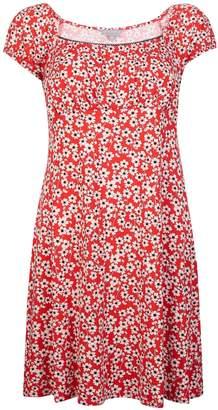 Dorothy Perkins Womens Petite Red Ditsy Print Dress