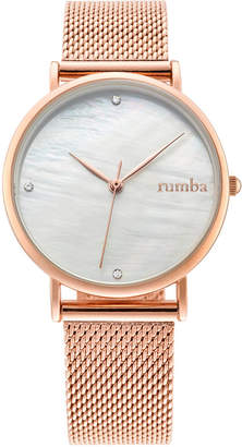 RumbaTime Lafayette Rose Gold Mesh Women's Watch