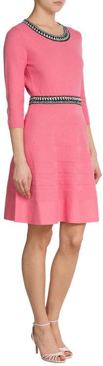 Paule KaPaule Ka Crochet Knit Stretch Dress