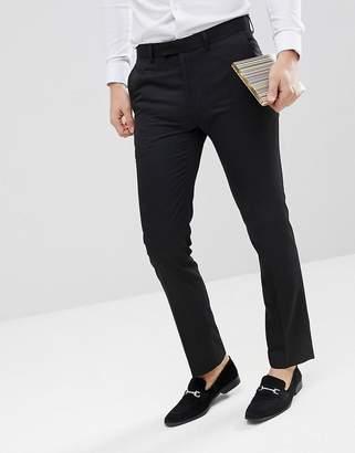 Moss Bros skinny smart pants in black