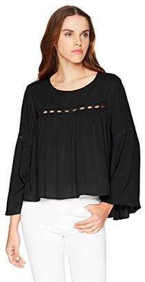 LIRA Women's Amanda Pesant Boho Long Sleeve Blouse