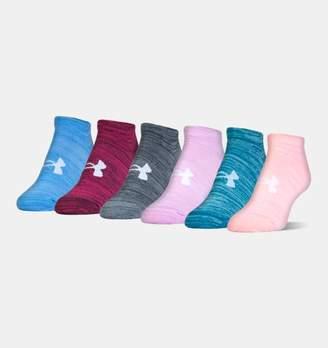 Under Armour Women's UA Twist No Show Socks— 6-Pack