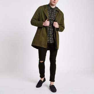 River Island Only and Sons khaki green hooded parka jacket