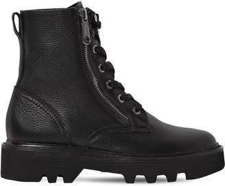 Calvin Klein Jeans 30mm Diahne Tumbled Leather Combat Boots