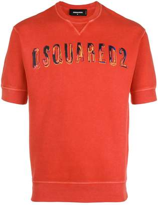 DSQUARED2 logo printed short-sleeved sweatshirt