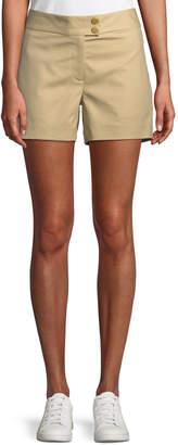 Michael Kors Cotton Snap-Waist Sailor Shorts, Khaki