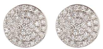 Ron Hami 14K White Gold Pave Diamond Large Disc Stud Earrings - 0.21 ctw