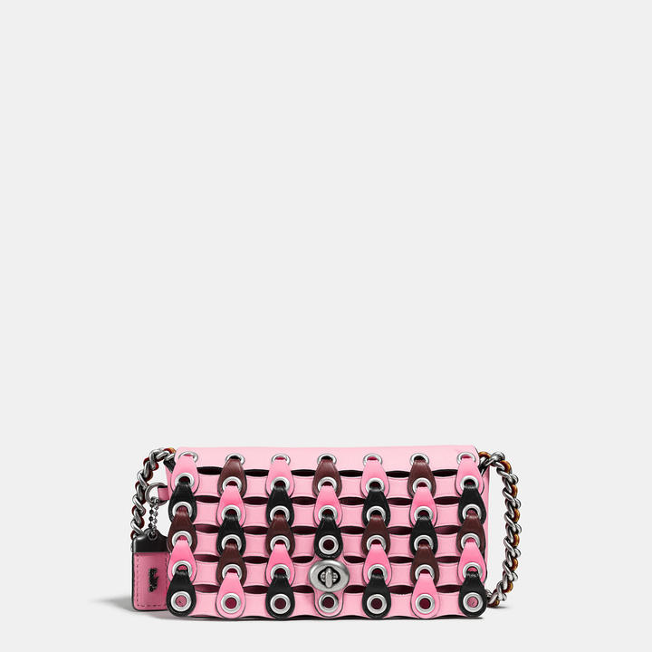 Coach  COACH Coach Dinkier In Colorblock Link Leather