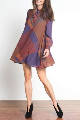 Urban Touch Tie Neck Dress
