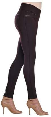 Nygard Collection Nygard Slims Women's 2.5 Jegging with Faux Leather Piping