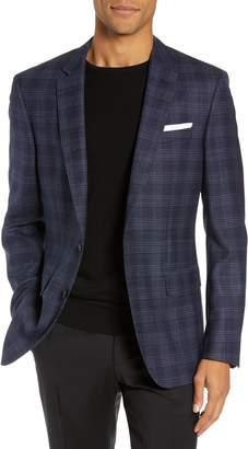 BOSS Slim Fit Check Virgin Wool Sport Coat