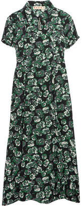 Marni - Floral-print Crepe Midi Dress - Green