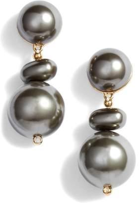 Lele Sadoughi Imitation Pearl Pebble Drop Earrings