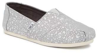 Toms Classic Silver Foil Snow Spots Slip-On