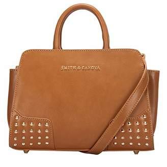 ... Smith   Canova Womens Corner Studded Small Zip Top Grab Bag Shoulder Bag 2d585fe387ea1
