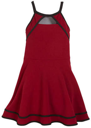 Sally Miller Shay Fit-and-Flare Dress w/ Contrast Piping, Size S-XL