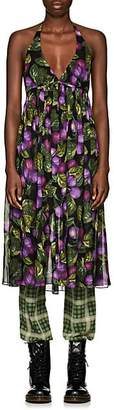 Marc Jacobs Women's Plum-Print Chiffon Halter Dress - Purple Pat