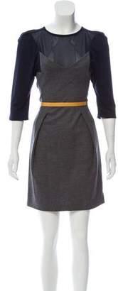 Toga Pulla Wool Mini Dress