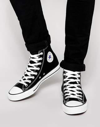 Converse Hi plimsolls in black m9160c
