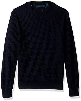 Perry Ellis Men's Cable Crew Pullover Sweater