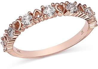 Bloomingdale's Diamond Heart Stacking Ring in 14K Rose Gold, 0.50 ct. t.w. - 100% Exclusive