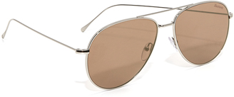 Illesteva Linate Flat Lens Sunglasses $190 thestylecure.com