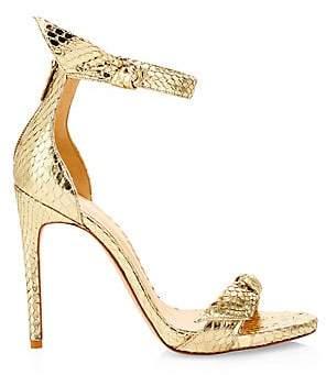 Alexandre Birman Women's Clarita Metallic Python Stiletto Sandals