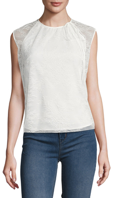 Lace Embroidered Top $250 thestylecure.com