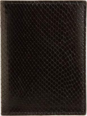 Barneys New York Men's Python-Embossed Passport Case - Black