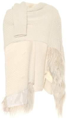 Simone Rocha Alpaca and wool-blend cape