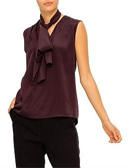 St. John One Shoulder Drape Top