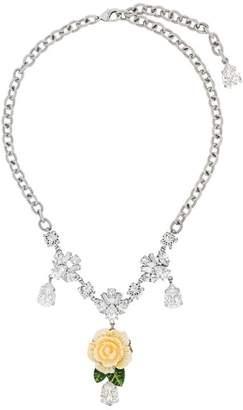 Dolce & Gabbana flower drop pendant