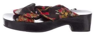 Dries Van Noten Silk Slide Sandals