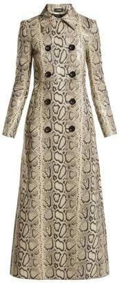 Kwaidan Editions - Python Print Leather Coat - Womens - Python
