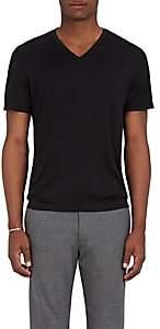 Theory Men's Claey Plaito Silk-Cotton T-Shirt - Black